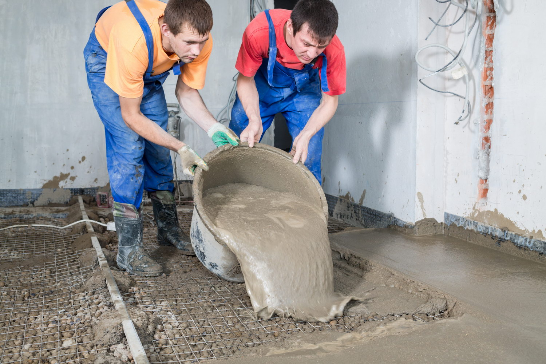 стоимость ручной заливки бетона